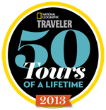 Selected one of National Geographic Traveler's 50 Tours of a Lifetime 2013