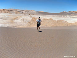 Leaving the Valley of the Moon - Atacama Marathon