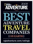 Andes Adventures awarded Best Adventure Travel Companies 2009 by the editors of National Geographic ADVENTURE magazine.